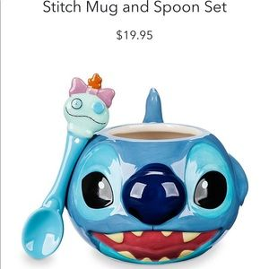 Disney Stitch mug & spoon set